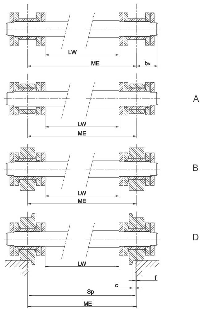 Dvostrane izvedbe prijenosnih lanaca